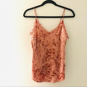 Urban Outfitters Kimchi Blue Velvet Lace Tank